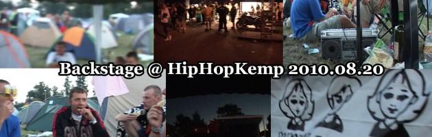 Backstage @ HipHopKemp 2010.08.20