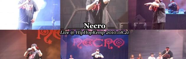 Necro • Live @ HipHopKemp 2010.08.21